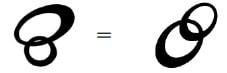 2つの輪のロゴと別の2つの輪のロゴは類似する
