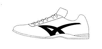 運動靴の位置商標